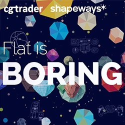 shapeways cg trader flat is booooring