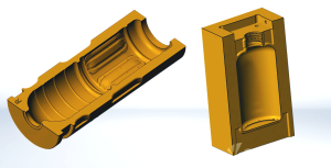 3D model for 3D printed blow mold