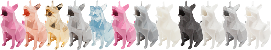 3D printed dogs from Printabit