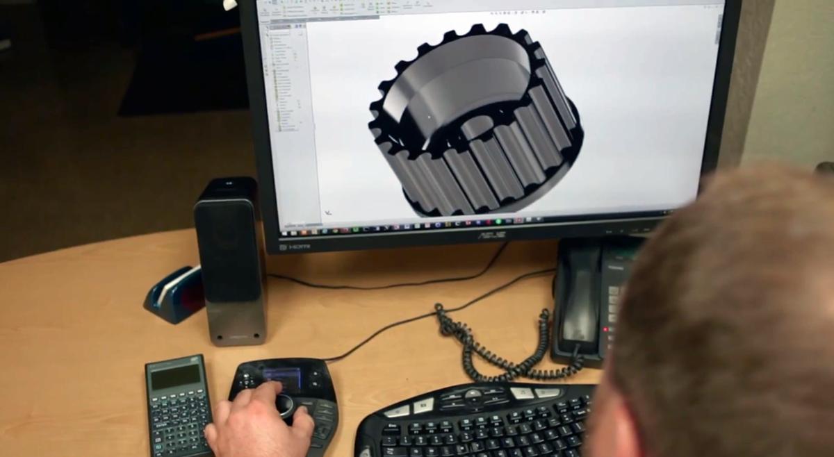 3D printed oil pressure gear CAD model