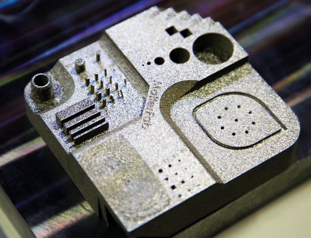 3D printed part from matterfab 3D metal printer