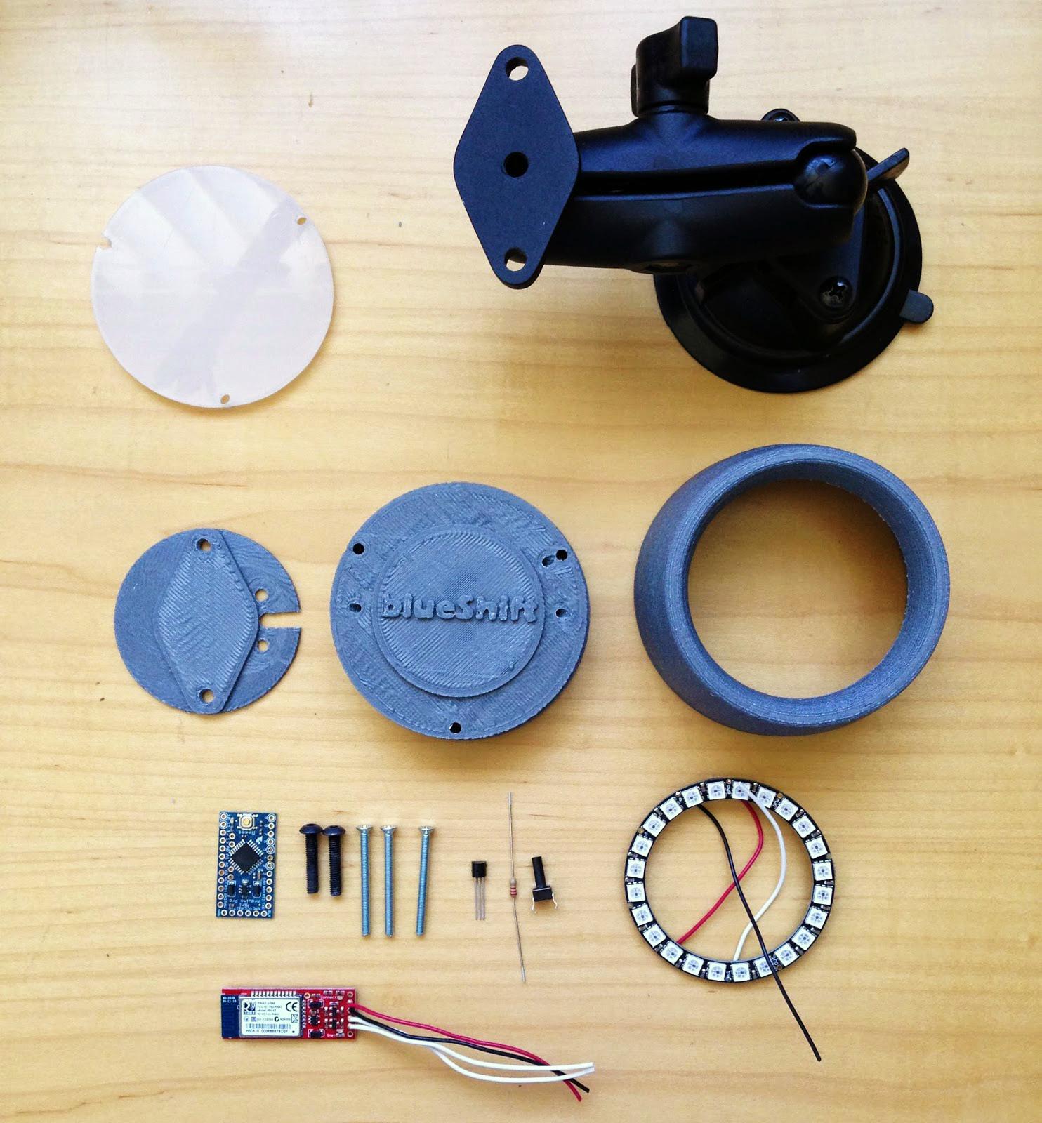 3D printed tachometer openxc