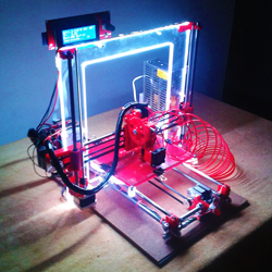 3D printer with LEDs