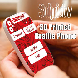 3d printing braille ownfone