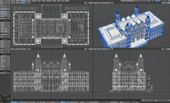 Ellis Island Customs House 3D Model for 3D printing by Don Foley via 3D Printing Industry