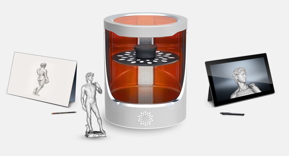 Helios One Heliolithography 3D Printer from Orange Maker via 3D Printing Industry
