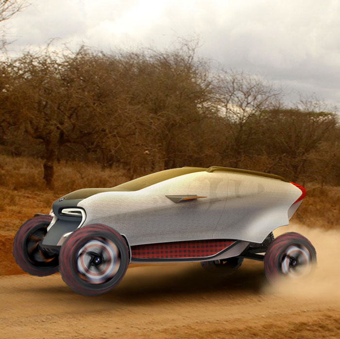 MAASAICA render 3d printing BMW