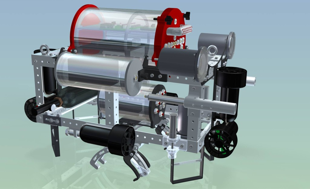 Robosub 3d model CAD