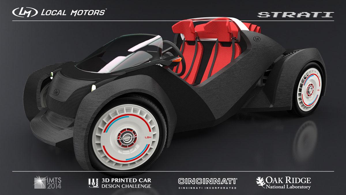 Strati Local Motors 3D printed car