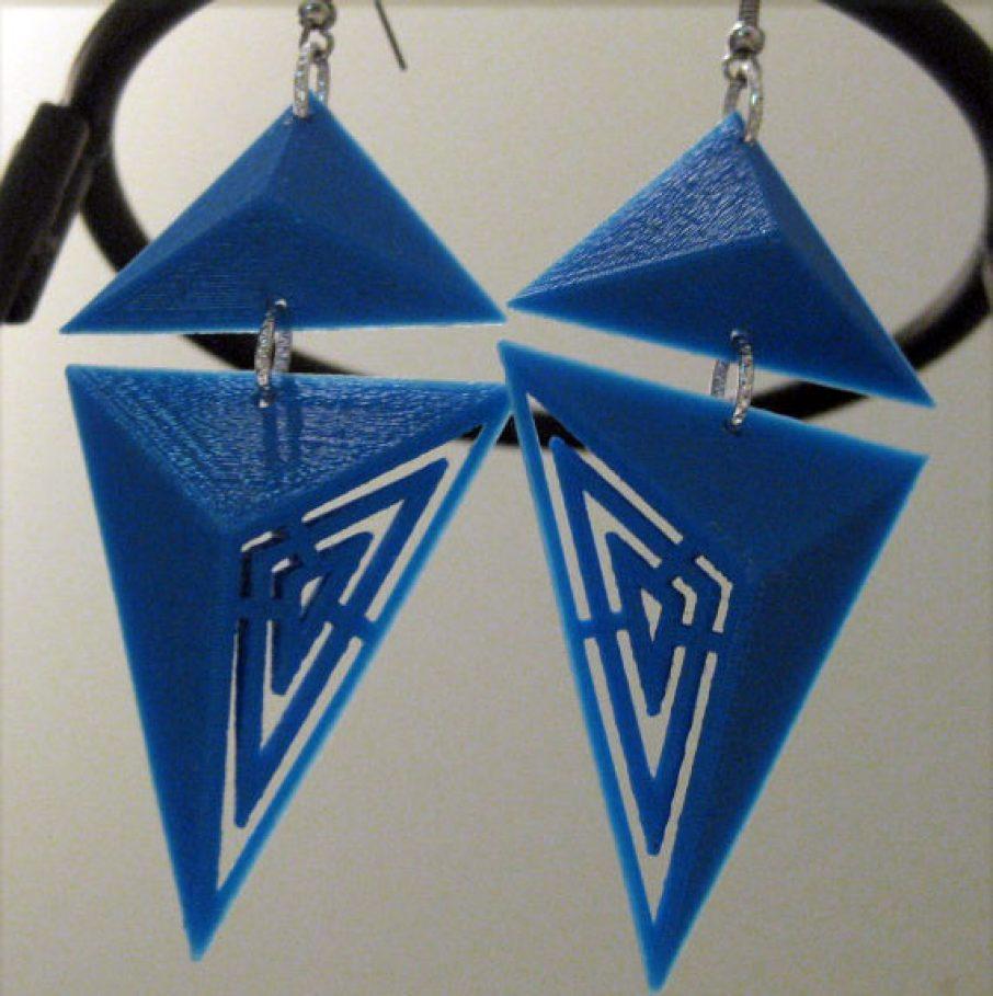 FISH3Ddesigns Aztec 3D Printed Earrings