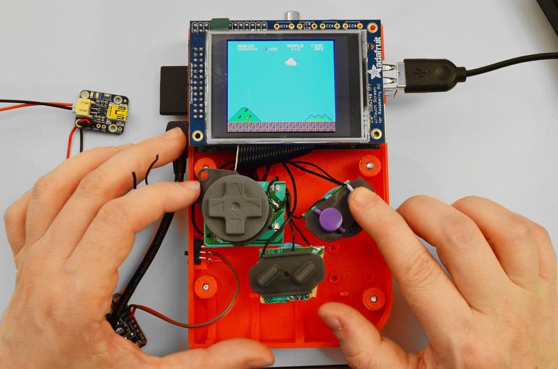 gameboy 3d printing raspberry pi adafruit