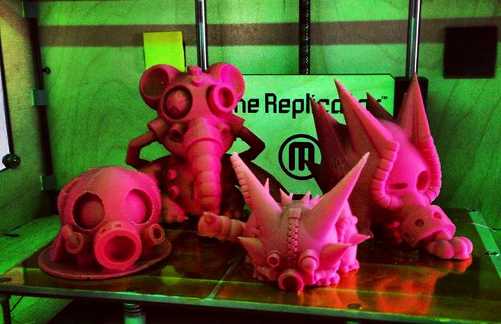 makerbot 3d prints toys