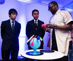 will.i.am with 3D printed globe