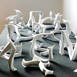 3D printed alphabetgarden