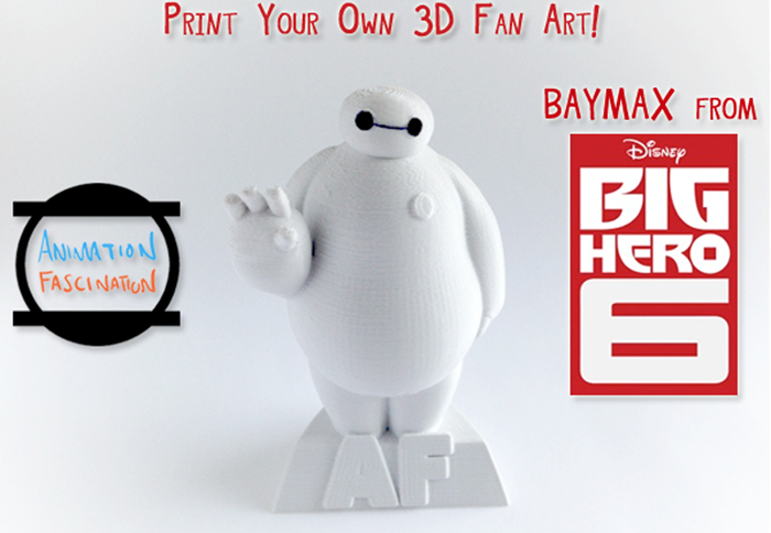 3D printed baymax from Disney's Big Hero 6 by animation fascination