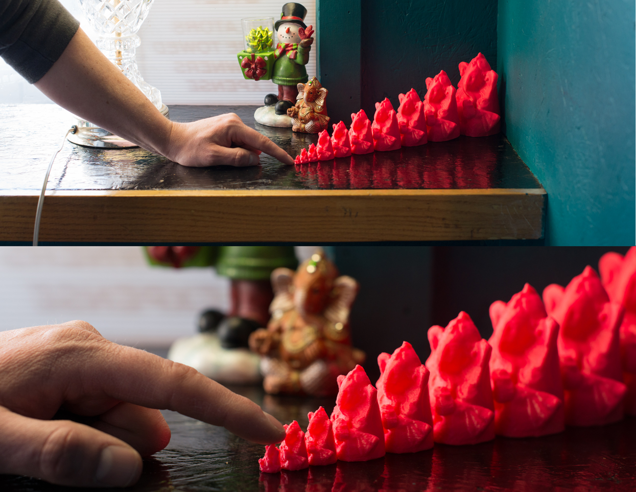 3D printed ganesh meshbomb in coffee shop