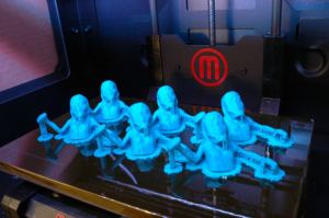 3D printed meshbomb zombies in MakerBot Replicator