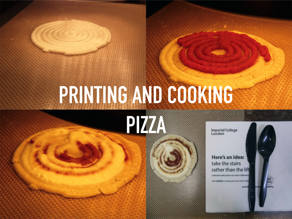 3D printed pizza from F3D 3D printer