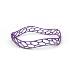 3D printed wavemaker bracelet purple