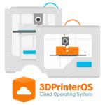3DprinterOS logo with printers