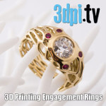 3DPI.TV – Customized 3D Printed Diamond Engagement Rings