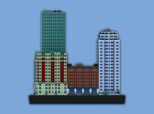 3d printed ittyblox sim city
