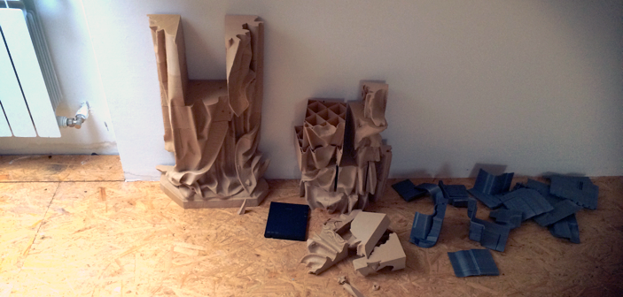 3d printed triptych of luban assembling