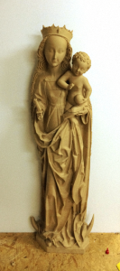 3d printed triptych of luban mary