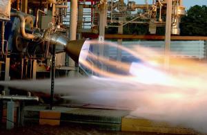 Aerojet Rocketdyne test firing 3D printed rocket engine