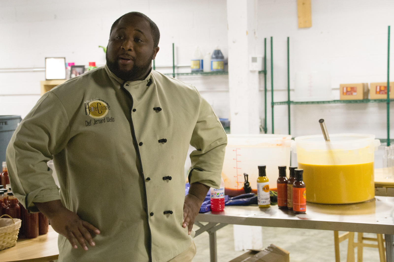 Chef Jernard Wells the Love Chef at INCubator in Chattanooga with 3D Printing Industry
