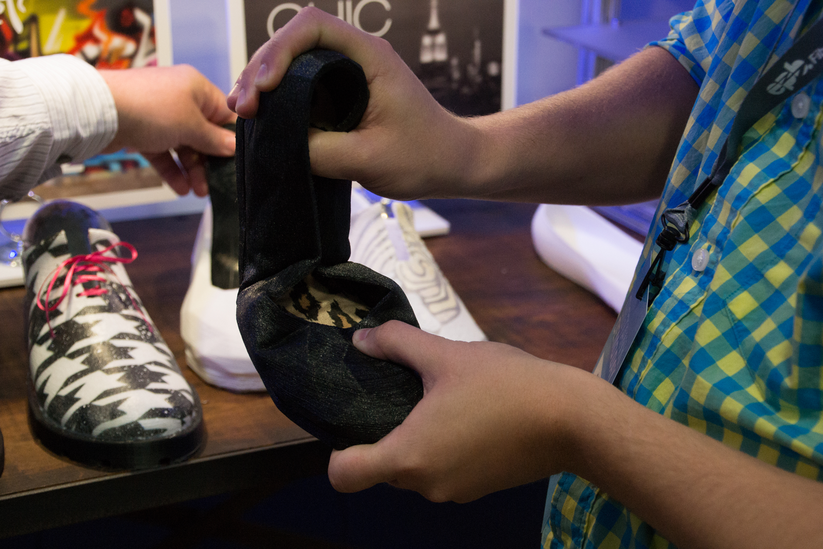 Feetz 3D printed shoe demonstrating flexibility