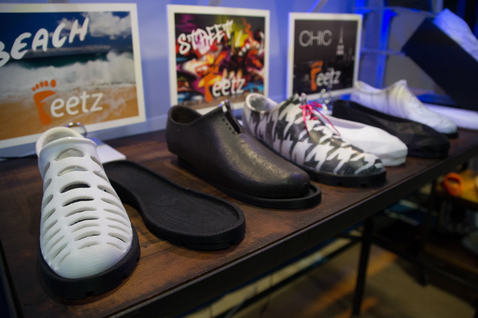 Feetz 3D printed shoe prototypes