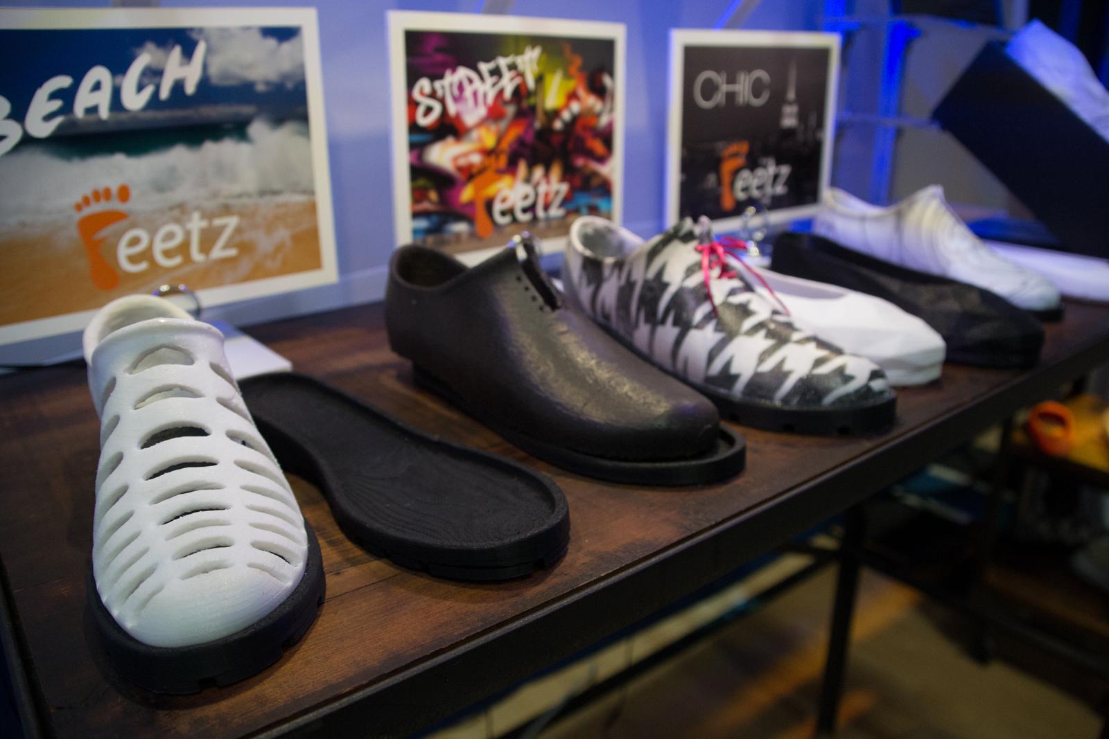 Feetz 3D printed shoe prototypes
