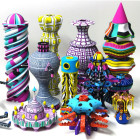 "Artist Adam Furman's Dazzling ""Totem"" Erected Colorful 3D Printing"