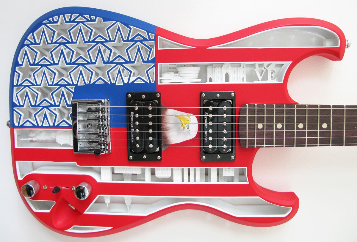 Olaf Diegels Americana 3D Printed Guitar
