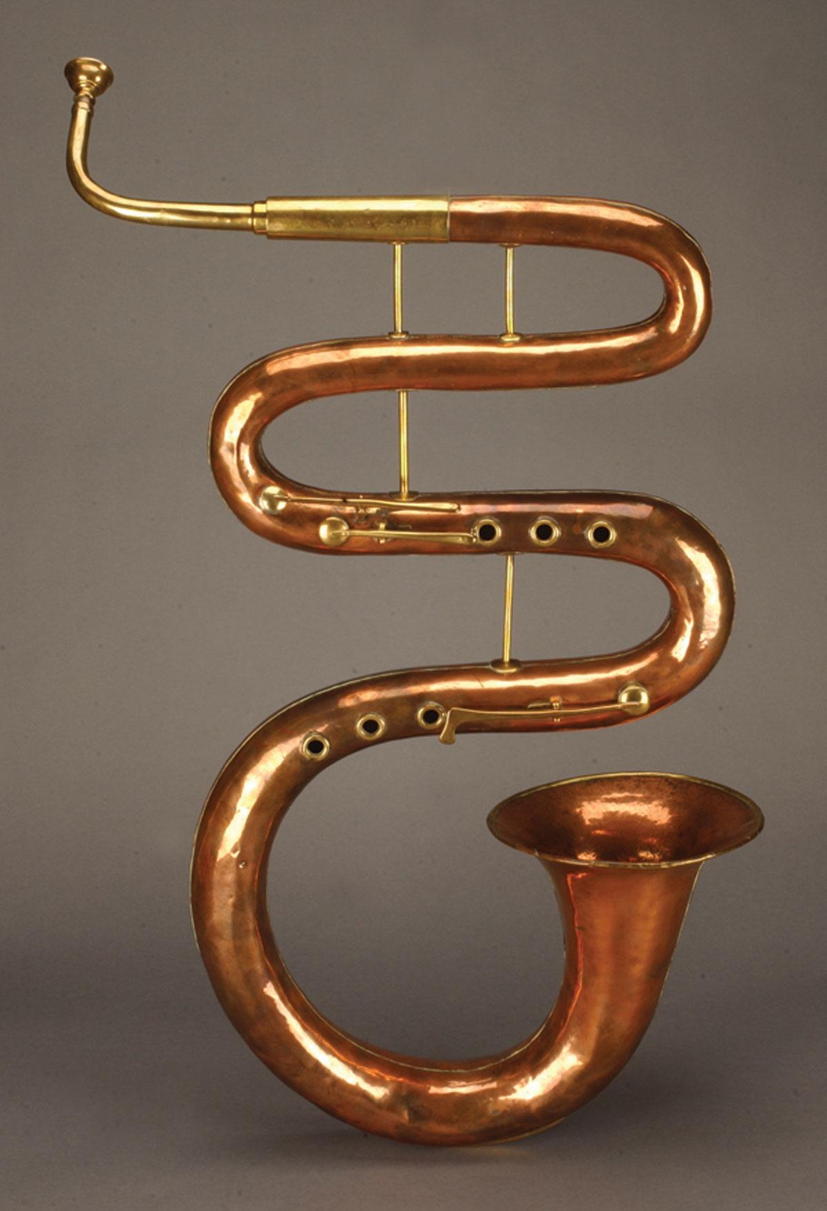 Serpent Horn by English brazier William Lander 1825