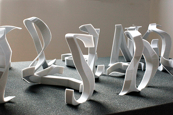 The Garden EPLVLEREPRAETERITORVM 3D printed alphabet 3D printshow