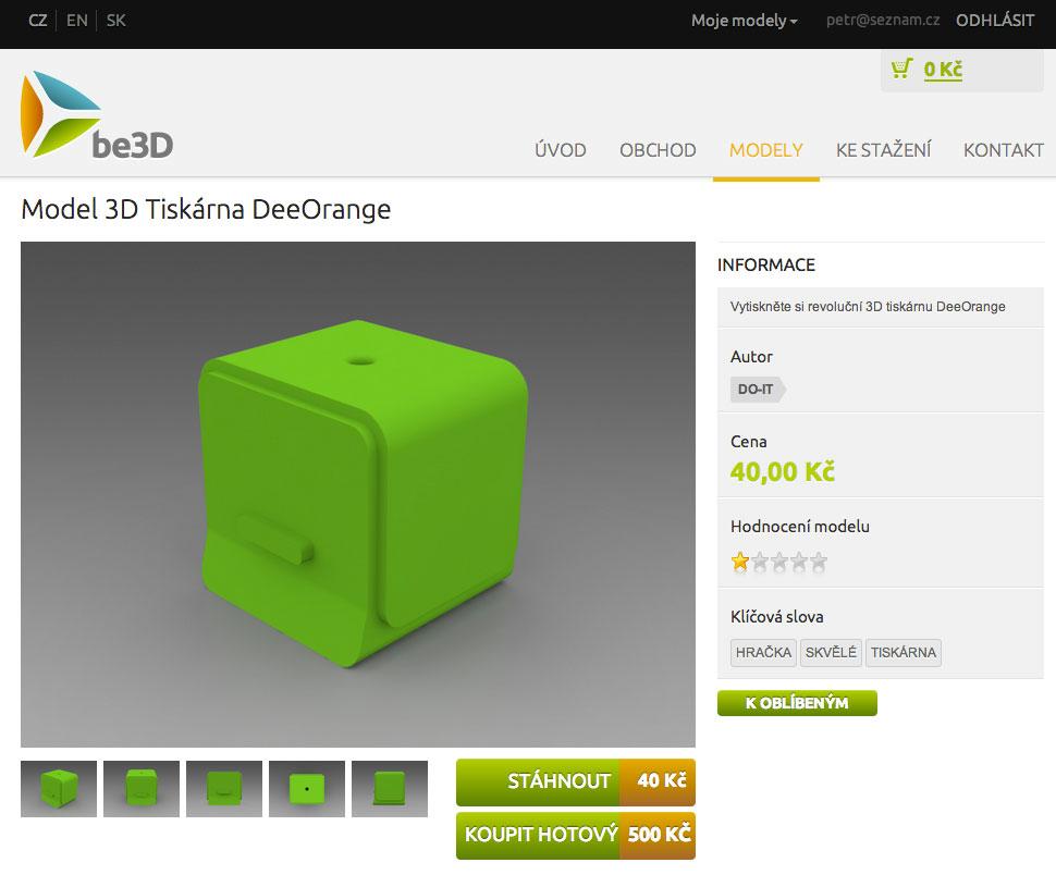 be3d model 3d printing