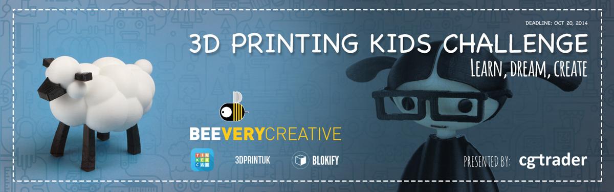 cgtrader 3D printing kids challenge