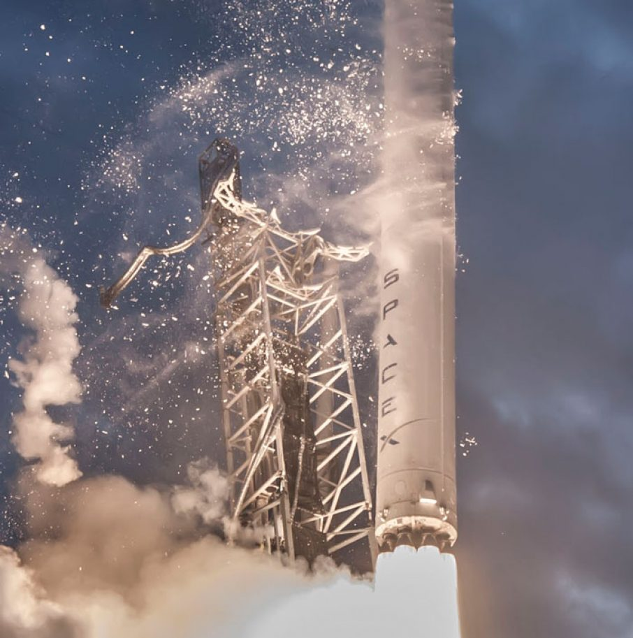 falcon 9 launch spacex 3d printing