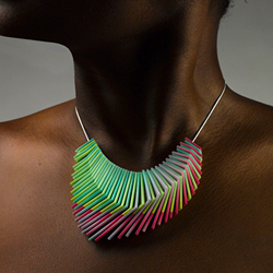 feature Gradient Necklace, Magenta Tip 3d printed from cubify