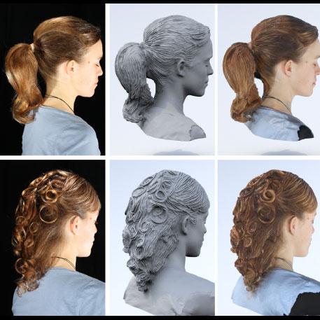 hair 3d scanning 3d printing