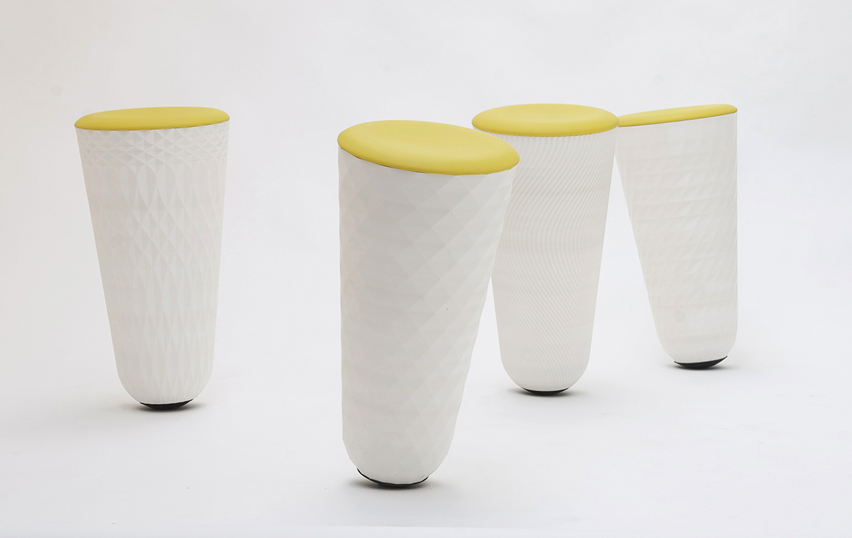 injection 3d printed stools