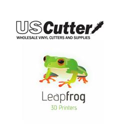 leapfrog 3D printer and uscutter partnership