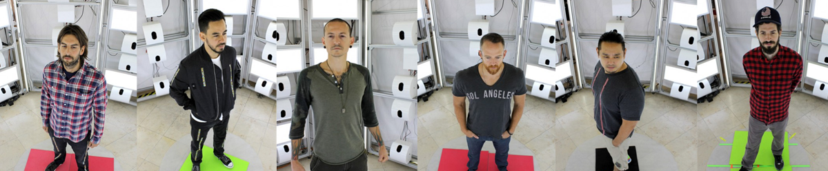 linkin park scanned for 3D prints from staramba
