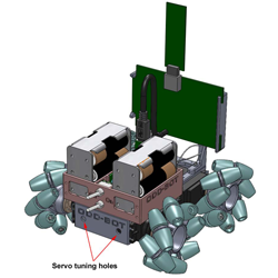 oddbot 3D printed omnidirectional robot by Olaf Diegel
