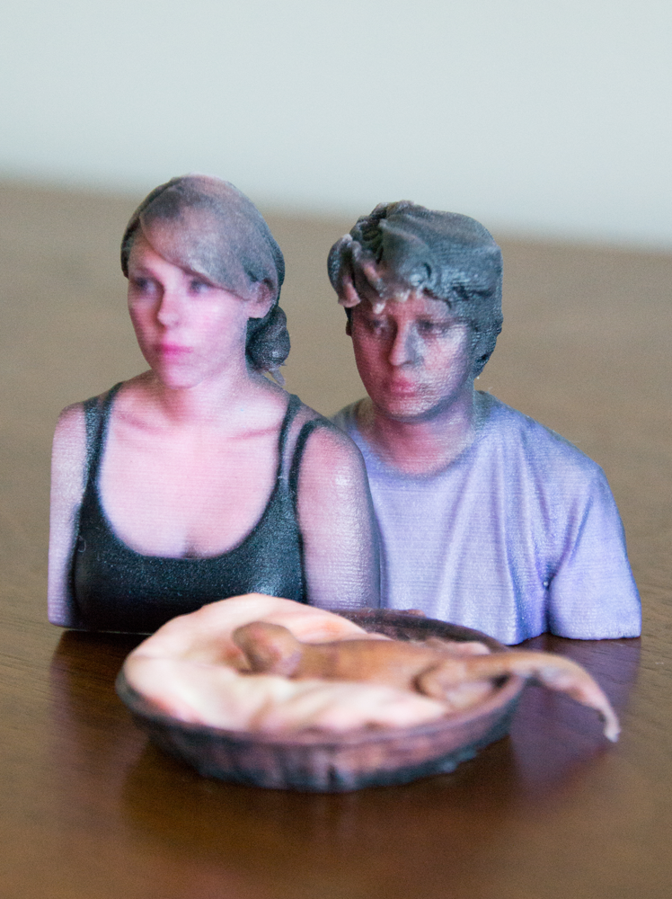 shante and family 3D printed by i.materialise