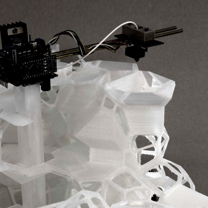 UK Student Creates 3D Printed Concept for Recycled-Plastic Voronoi Housing Complex