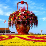 3D printed prototypes to plan National Day flower arrangement in China