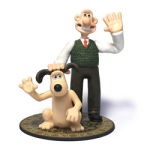 3D printed wallace and gromit from things3D